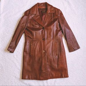 Danier Raspberry Red Leather Jacket